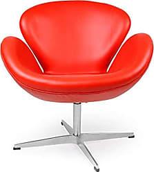Kardiel SWAN-RED-Aniline Trumpeter Chair