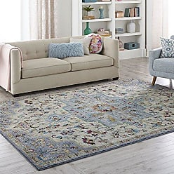 Home Dynamix 7765-596 Serena_N_3ft6inx5ft3in_7765-596 Area Rug, 3 x 5, Medallion Bohemian Ivory/Gray