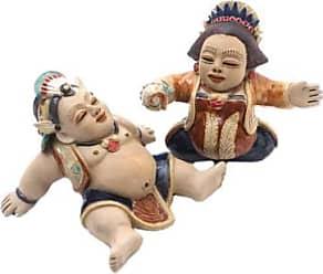Novica Ceramic figurines, Whimsical Loro Blonyo (pair)
