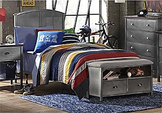 Hillsdale Furniture 1265BTRPB Urban Quarters Panel Bed Set with Footboard Bench and Frame Twin Black Steel