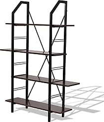 Costway 4 Layers Wooden Storage Bookshelf Home Office Furniture