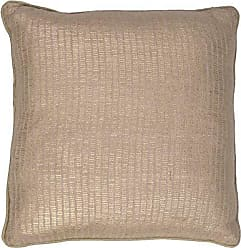 Jaipur Solid Pattern Natural Cotton Polly Fill Pillow, 18-Inch x 18-Inch, Champagne Beige Metallic