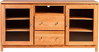 Forest Designs Urban TV Cart with Drawers Unfinished Alder, Size: 24 in. - 4157- UH-24H-UA