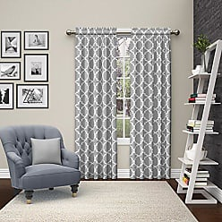 Ellery Homestyles Pairs to Go 15617056X084GRY Vickery 56-Inch by 84-Inch Window Curtain Pair, Gray