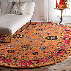 nuLOOM SPRE21A Hand Tufted Montesque Wool Rug, 6 x 9 Oval, Orange
