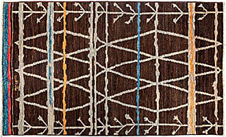 Solo Rugs Moroccan Hand Knotted Area Rug 4 10 x 8 0 Brown