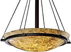 Justice Design Group Alabaster Rocks! Bowl Suspension with Ring