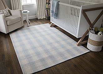 Momeni Rugs Erin Gates by Momeni Marlborough Charles Light Blue Hand Woven Wool Area Rug 5 X 8