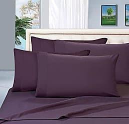 Elegant Comfort 1500 Thread Count Egyptian Quality 6 Piece Wrinkle Resistant Luxurious Sheet Set, California King, Eggplant Purple