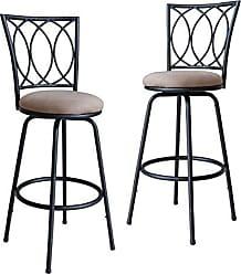 Round Hill Furniture PC036-2PC Redico Bar/Counter, Black