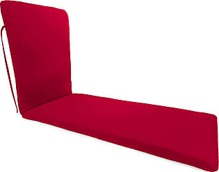 Jordan Manufacturing Company Classic Chaise Cushion with Ties, 76 x 23 x 3, in Barn Red