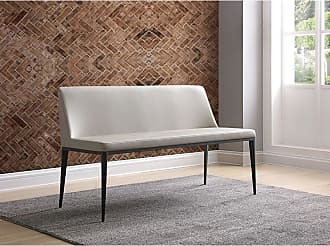 Whiteline Carrie Indoor Settee Bench - BN1479-LGRY