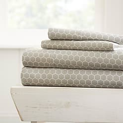 Noble Linens Honeycomb Sheet Set by Noble Linens Light Gray, Size: Queen - NL-4PC-HOC-QUEEN-LGRAY