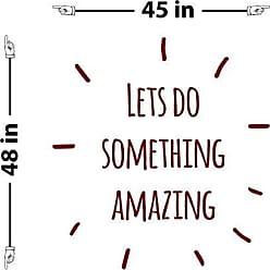 The Decal Guru Lets Do Something Amazing Wall Decal (Burgundy, 48 (H) X 45 (W))