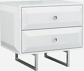Whiteline Modern Living Abrazo 2 Drawer Nightstand - NS1356-WHT