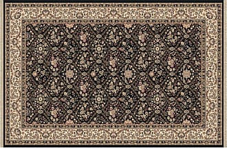 Dynamic Rugs Brilliant Collection Wool Hearth Rug-Black Onyan - BR247211090