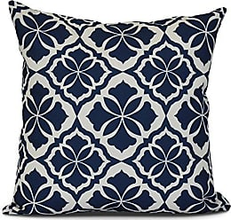 E by Design Ebydesign Ceylon Geometric Print Outdoor Pillow 20 x 20 Blue