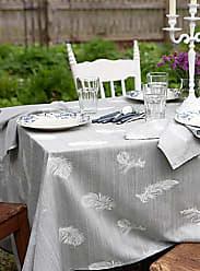 Simons Maison Silver-feather jacquard tablecloth