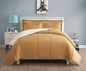 VCNY Home VCNY Home Queen Size Comforter Set in Camel Cozy Mink-FeelSherpa Lined 3 Pc Set w/ 2 Shams