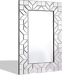 Costway 23.5 x 35.5 Rectangular Wall-Mounted Wooden Frame Vanity Mirror