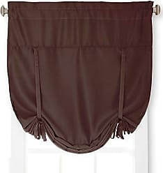 United Curtain Blackstone Blackout Tie Up Shade, 40 by 63-Inch, Chocolate