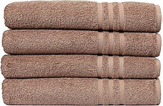 Linum Home Textiles 100% Turkish Cotton Denzi Bath Towels, Set of 4, Brown