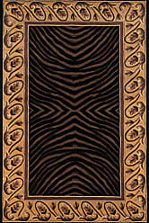 Momeni Rugs NEWWANW-09BLK80B0 New Wave Collection, 100% Wool Hand Carved & Tufted Contemporary Area Rug, 8 x 11, Black