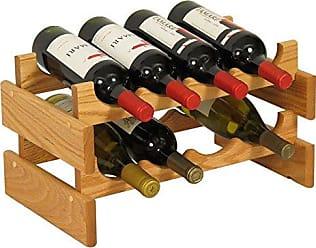Wooden Mallet 8 Bottle Dakota Wine Rack, Light Oak