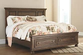 Ashley Furniture Flynnter Queen Panel Bed with Storage, Medium Brown