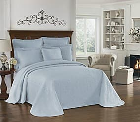 Ellery Homestyles HISTORIC CHARLESTON Bedspreads Coverlet - King Charles Collection 120 x 114 Size 100% Cotton Oversized Matelasse Bed Spread, King/Cal King, Blue
