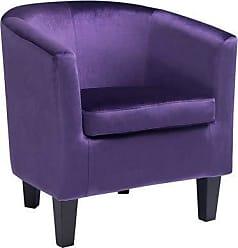 CorLiving LAD-758-C Antonio Club Chair, Purple
