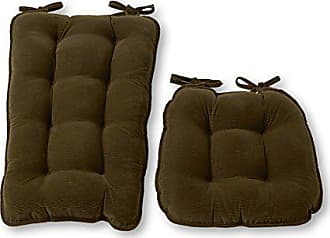 Greendale Home Fashions Jumbo Rocking Chair Cushion, Cherokee Solid, Sage