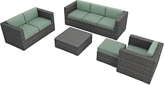 Harmonia Living Outdoor Harmonia Living District 5 Piece Patio Sofa Set - HL-DIS-TS-5SS-SP