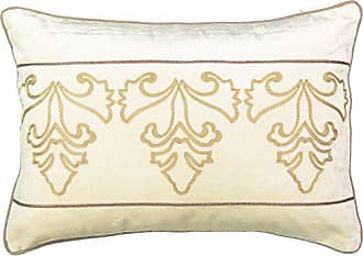 Ellery Homestyles Beautyrest Sandrine Embroidered Decorative Pillow, 14x20, Creme