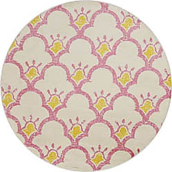 L.R. Resources Inc. LR Home WHIMS81261CRP48RD Whimsical Area Rug 48 Round Cream/Pink