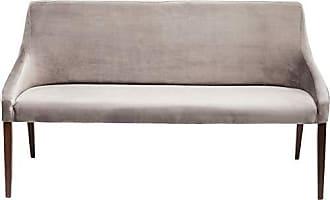 Kare Design Bank Mode Velvet Grau, 83518, Elegante Esszimmerbank In Samt,  Weiche Polster