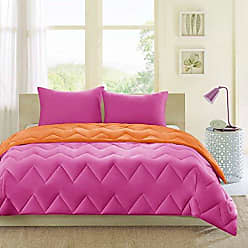 INTELLIGENT DESIGN Trixie Reversible Down Alternative Comforter Mini Set, Pink/Orange, California King, King King