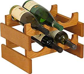 Wooden Mallet 6 Bottle Dakota Wine Rack, Medium Oak