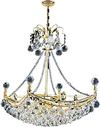 Worldwide Lighting W83025G24 6 Light 1 Tier 24 Gold Chandelier with