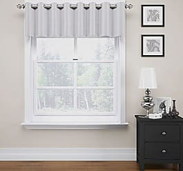 Ellery Homestyles Eclipse 14908052018SLV Luxor 52-Inch by 18-Inch Blackout Valance, Silver