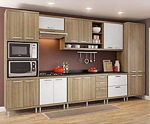 Multimóveis Cozinha Completa 9 Peças Sicília S16T Multimóveis Argila/Branco