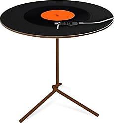 Artezanal Mesa Flip Digital 40x53cm disco Pés Marrom