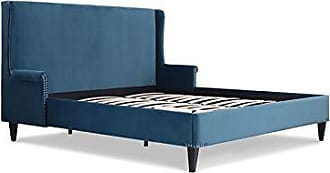Jennifer Taylor Home S52190-4-867-1 Clarice Wingback Accent Platform Bed King Satin Teal