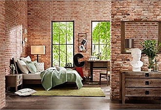 Ink + Ivy II115-0014 Oaktown Frame with Headboard and Footboard, Solid Oak Platform beds with Wood Slat Support, Queen, Reclaimed Grey