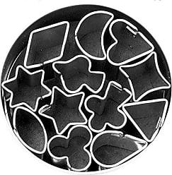 Fox Run Craftsmen Fox Run 3690 Micro Shapes Cookie Cutter Set, 12 piece, Silver