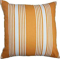 The Pillow Collection Perri Stripes Bedding Sham Orange White King/20 x 36