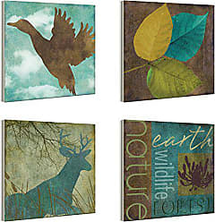 The Stupell Home Décor Collection The Stupell Home Decor Collection Nature and Wildlife Silhouettes Plaque, Set of 4