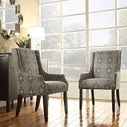 Weston Home Blue Print Fabric Accent Chair with Sloping Track Arm - E546CF29(3A)