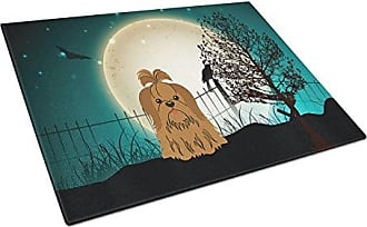 Multicolor Large Carolines Treasures BB1938LCBChocolate Brown Poodle Easter Egg Hunt Glass Cutting Board