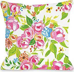 One Bella Casa 74551PL16 Pillow 16 x 16 x 3 Multicolored